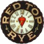 Red Top Rye Whiskey ROG Clock, Westheimer & Sons, Co. St. Joseph, MO. Circa 1900
