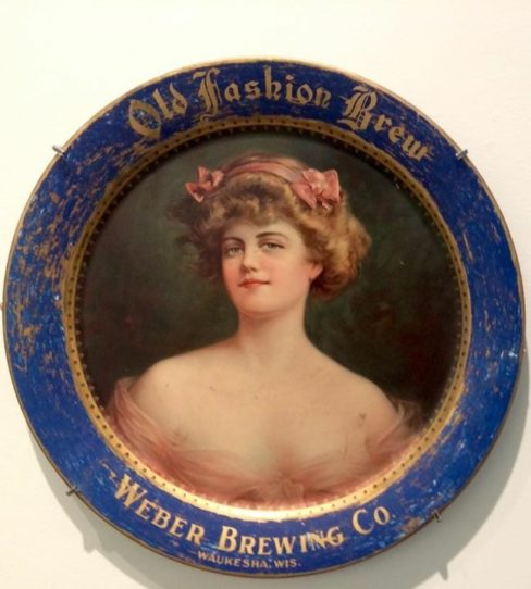 Weber Brewing Co., Waukesha, WI Serving Tray. Circa 1910