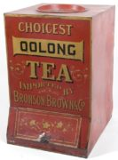 BRONSON BROWN & CO. OOLONG TEA GENERAL STORE BIN.  Circa 1900