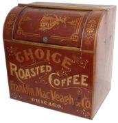 FRANKLIN, MACVEAGH & COMPANY, GENERAL STORE COFFEE BIN, CHICAGO, IL.  Circa 1900