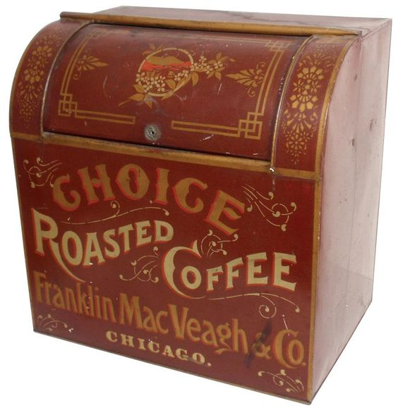 Franklin, MacVeagh Coffee Co., Chicago Coffee Bin. Circa 1900