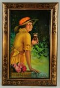 COCA-COLA SOFT DRINK SELF-FRAMED TIN SIGN.  COCA-COLA CO., ATLANTA, GA.  Circa 1900
