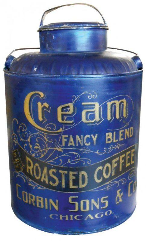 Corbin Sons Co., Chicago, IL Cream Roasted Coffee Can. Circa 1895
