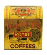 DWINELL, WRIGHT & CO. BOSTON, MA & CHICAGO, IL.  ROYAL JAVA AND MOCHA COFFEES STORE BIN. Circa 1900