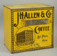 J. H. ALLEN & CO., GENERAL STORE COFFEE BIN.   ST. PAUL, MN.  Circa 1900