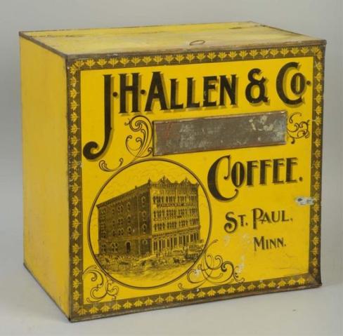 J. H. Allen & Co Coffee Bin, St. Paul, MN. Circa 1900