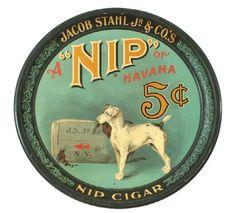 Jacob Stahl Nip of Havana Cigar Tray, 5 Cents