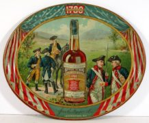 JOS. E. PEPPER DISTILLING CO., LEXINGTON, KY.  OLD PEPPER BRAND SERVING TRAY.  Circa 1910