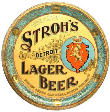 Stroh's Brewing Co., Detroit, MI. Lager Beer Serving Tray. Circa 1910