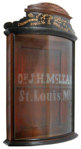 Dr, J. H. McLeans Medicine Cabinet, St. Louis, MO. Circa 1900