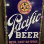 Pacific Brewing & Malting Co., Tacoma, WA Beer Porcelain Sign. Circa 1915