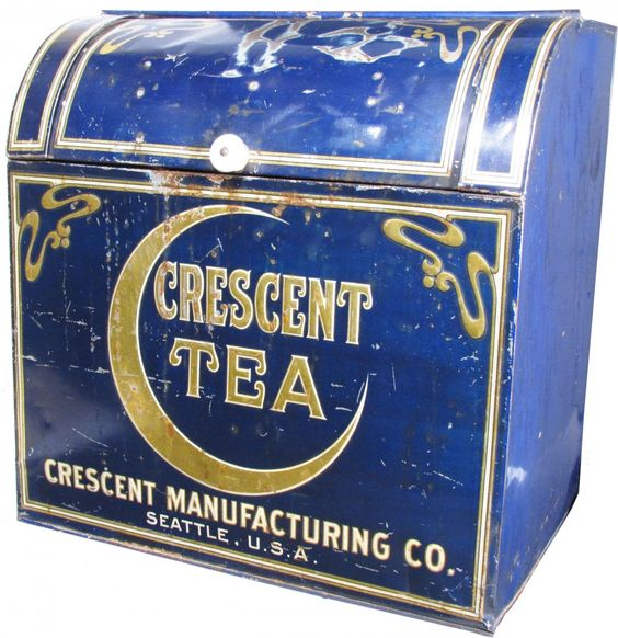 Crescent Manufacturing Co. Tea Store Bin Box, Seattle, WA. Circa 1900