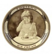 FOSTER'S ICE CREAM TIN SERVING TRAY.  WATERLOO.  Circa 1915