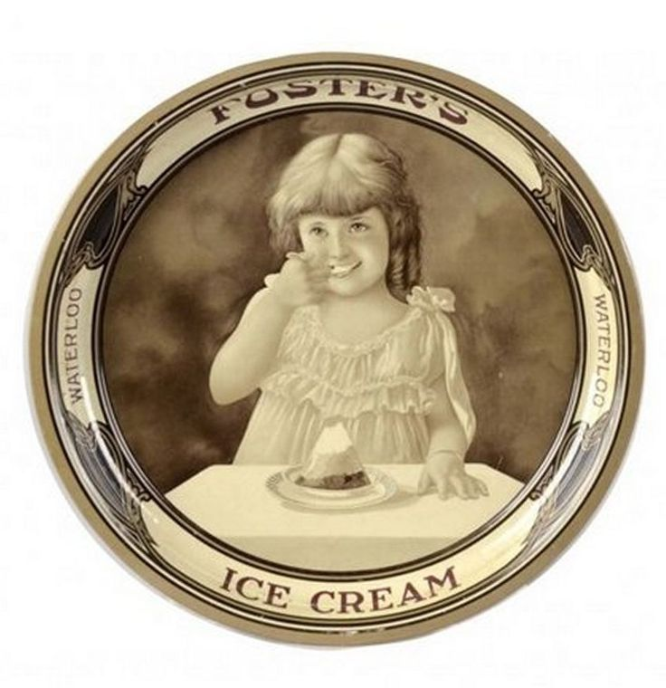Fosters Ice Cream Tin Serving Tray, Waterloo. Circa 1915