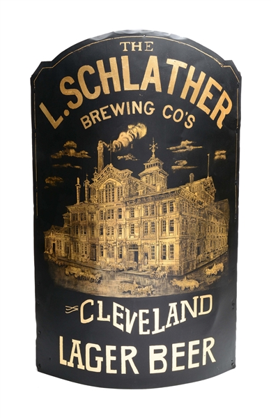 Schlather Brewing Co. Beer Corner Sign Cleveland OH. Circa 1890