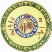AMERICAN BREWING CO, ROCHESTER, N.Y. LIBERTY BEER SERVING TRAY!