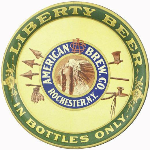Liberty Beer, American Brewing Co, Rochester, N.Y. Serving Tray