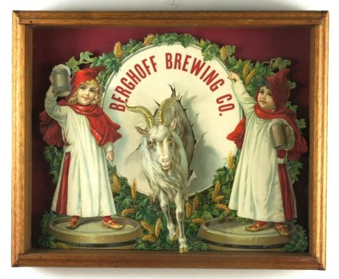 Berghoff Brewing Co. Bock Beer Sign Pre-Prohibition, Circa 1910