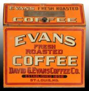 DAVID G. EVANS ROASTED COFFEE STORE BIN, ST. LOUIS, MO.  Circa 1900