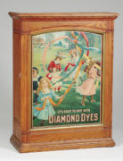 "Diamond Dyes Spool Cabinet, ""It's Easy To Dye With"""