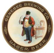 GENESEE BREWING COMPANY LAGER BEER TIN TRAY, Circa 1910