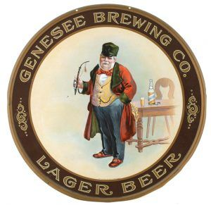 Genessee Brewing Co., Lager Beer Tin Tray, Rochester, NY