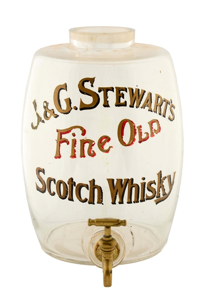 J.& G Scotch Fine Old Scotch Whiskey Syrup Dispenser