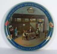 KEELEY BREWING CO., SERVING TRAY, CHICAGO, IL.  Circa 1910