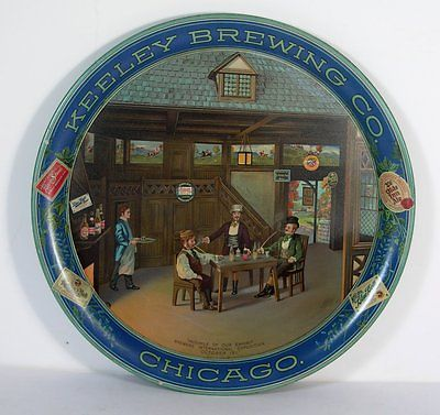 Keeley Brewing Co Serving Tray Chicago, IL. Circa 1910