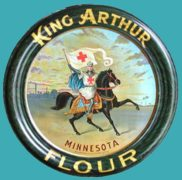KING ARTHUR MINNESOTA FLOUR TIN SERVING TRAY