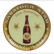 SARATOGA STAR SPRING WATER SERVING TRAY, N.Y. Circa 1910