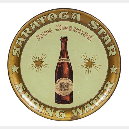Saratoga Springs NY Bottled Spring Water Tip Tray