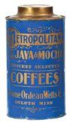 STONE ORDEAN WELLS COFFEE CO, METROPOLITAN BRAND, DULUTH, MN.  Circa 1900