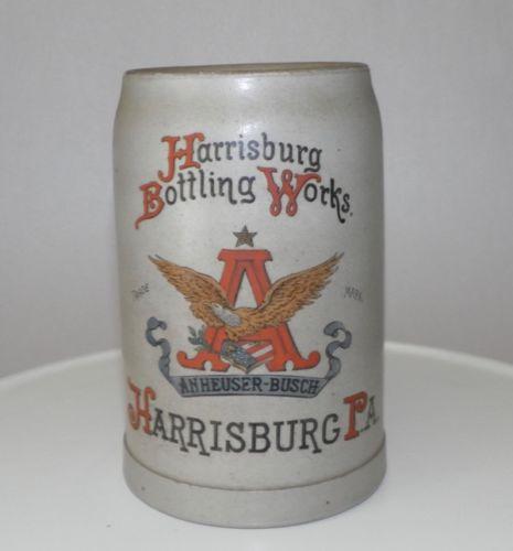 Harrisburg Bottling Works Stoneware Mug, Harrisburg, PA. Ca. 1910