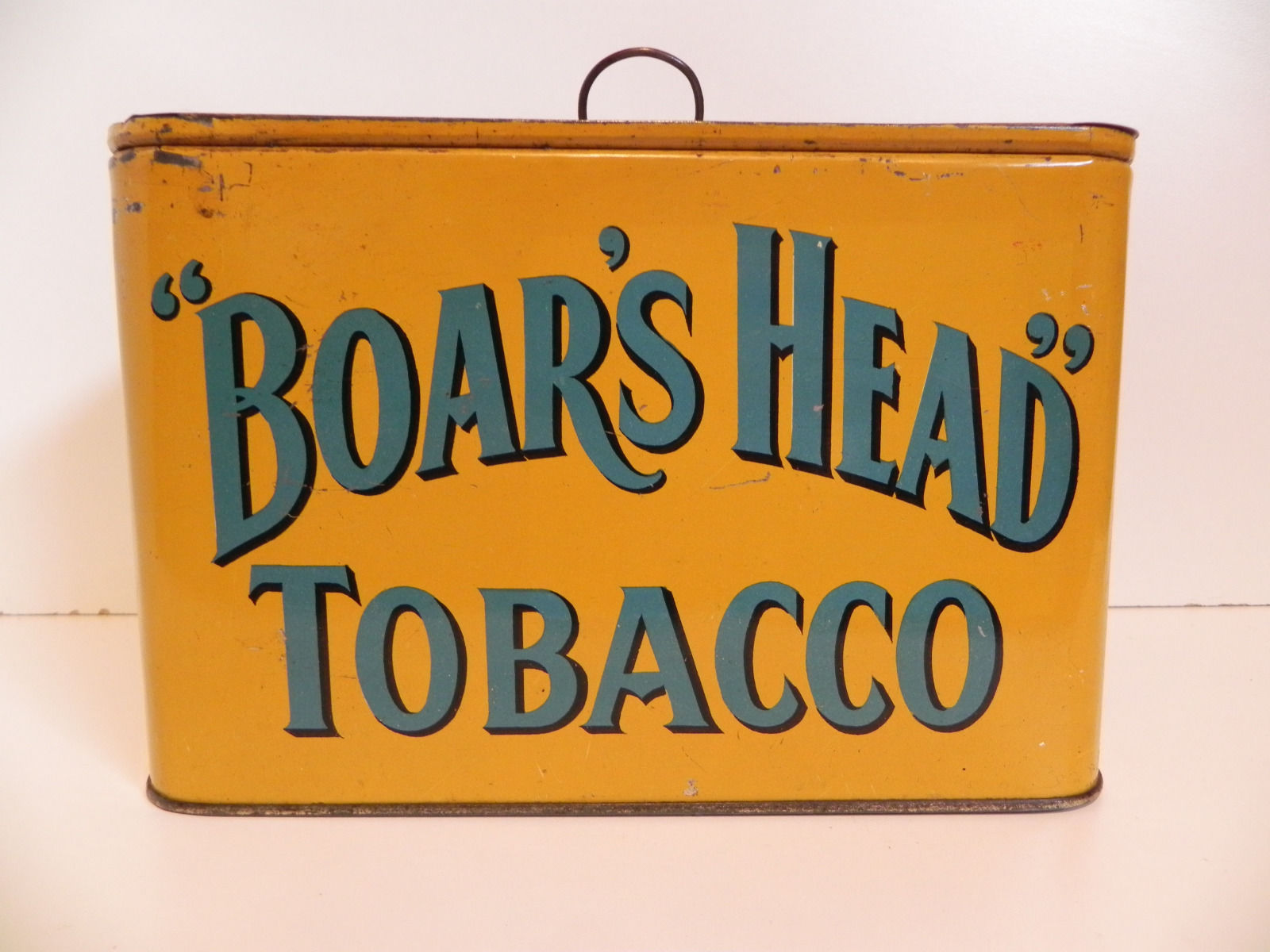 Boar's Head Tobacco Lunch Box Tin, Ca. 1910