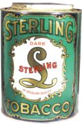 STERLING DARK TOBACCO CAN.  50 PACKET SIZE.  Ca. 1920