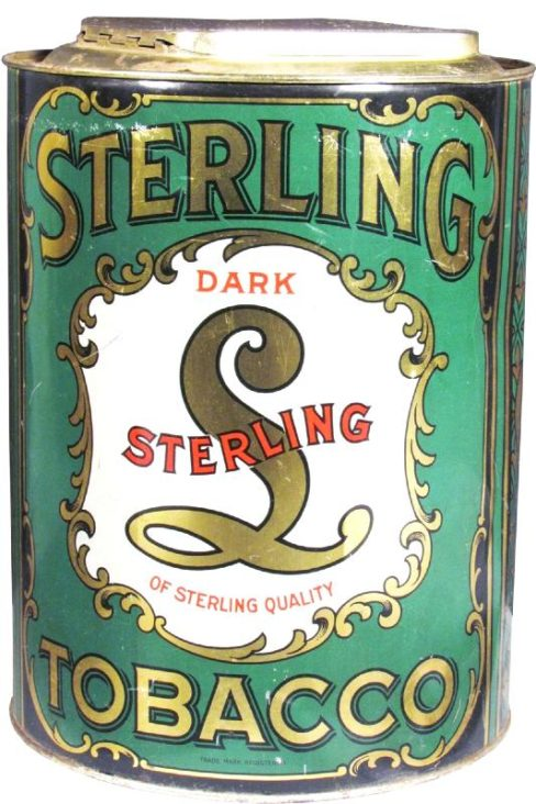 Sterling Dark Tobacco Green Can