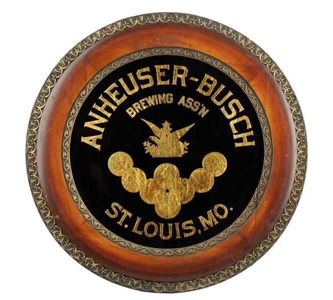 Anheuser Busch Wood Frame ROG Sign, St. Louis, MO. Ca. 1900