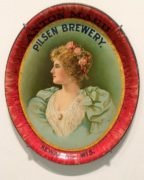 PILSEN BREWING COMPANY, KEWANEE, WI. PRE-PRO SERVING TRAY.  Ca. 1910