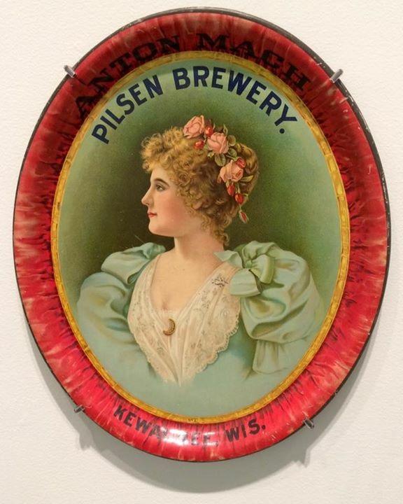Pilsen Brewing Co., Kewanee WI Serving Pre-Pro Tray. Circa 1910.