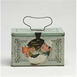 U.S. Marine Cut Plug Tobacco Lunch Box Tin., Ca. 1910