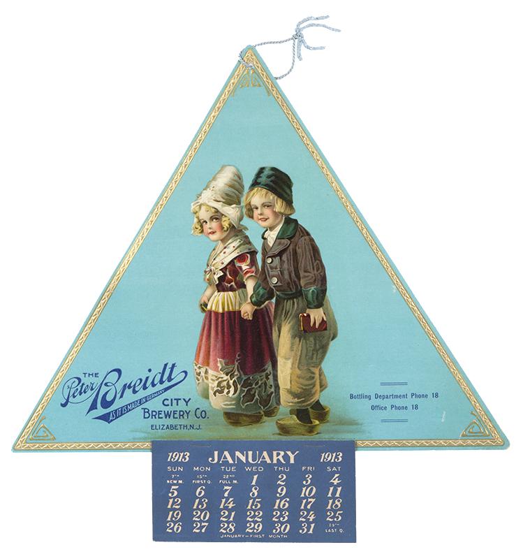 Peter Breidt Brewery, 1913 Calendar Elizabeth NJ