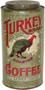 Turkey Brand Coffee Tin Can, A. J. Kasper Co., Chicago, IL & Kansas City, MO.  Circa 1920