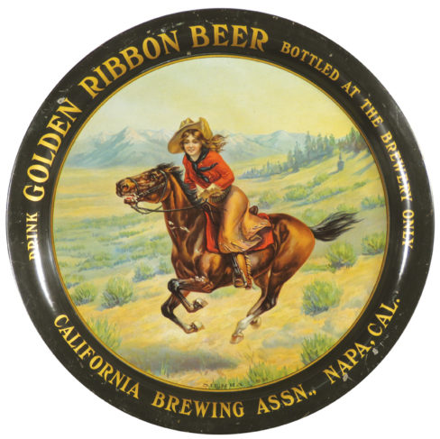 CA Brewing Association Serving Tray, Napa, CA. Circa 1910