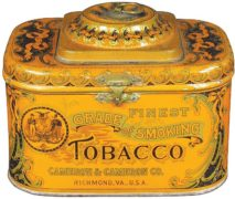 Cameron & Cameron Co. Richmond, VA., Finest Grade A Tobacco Can.  Circa 1920