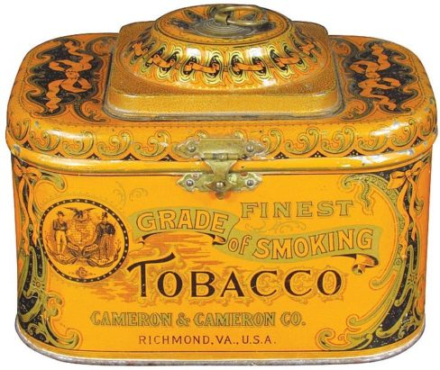 Cameron and Cameron Tobacco Tin Richmond, VA. Ca. 1915
