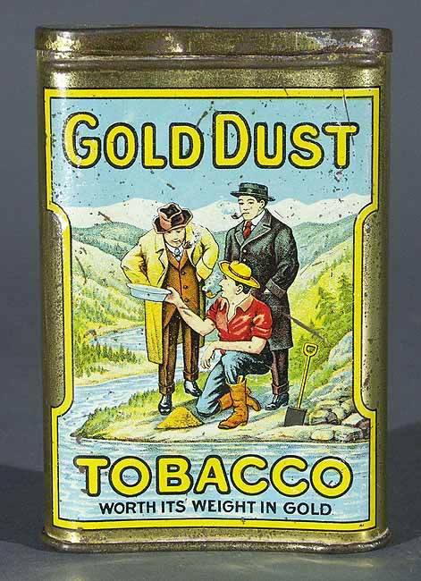 Gold Dust Tobacco Pocket Tin Can