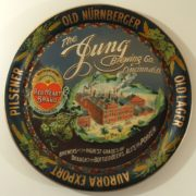 JUNG BREWERY BEER SERVING TRAY, CINCINNATI, OH.  Ca. 1910