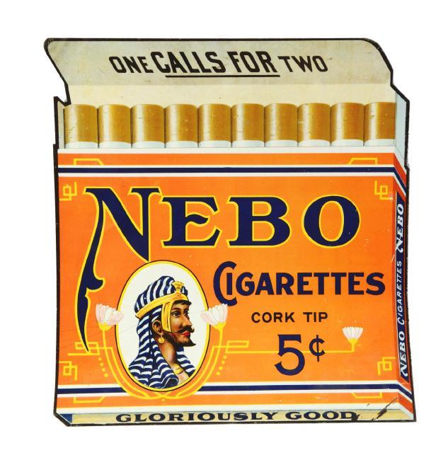 Nebo Tin 5 ct. Cigarette Sign, P. Lorillard Company, NYC