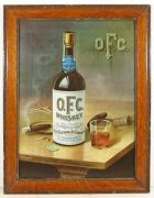 OFC Whiskey Geo. T. Stagg Distillery, Frankfort, KY.  Self-Framed Tin Sign